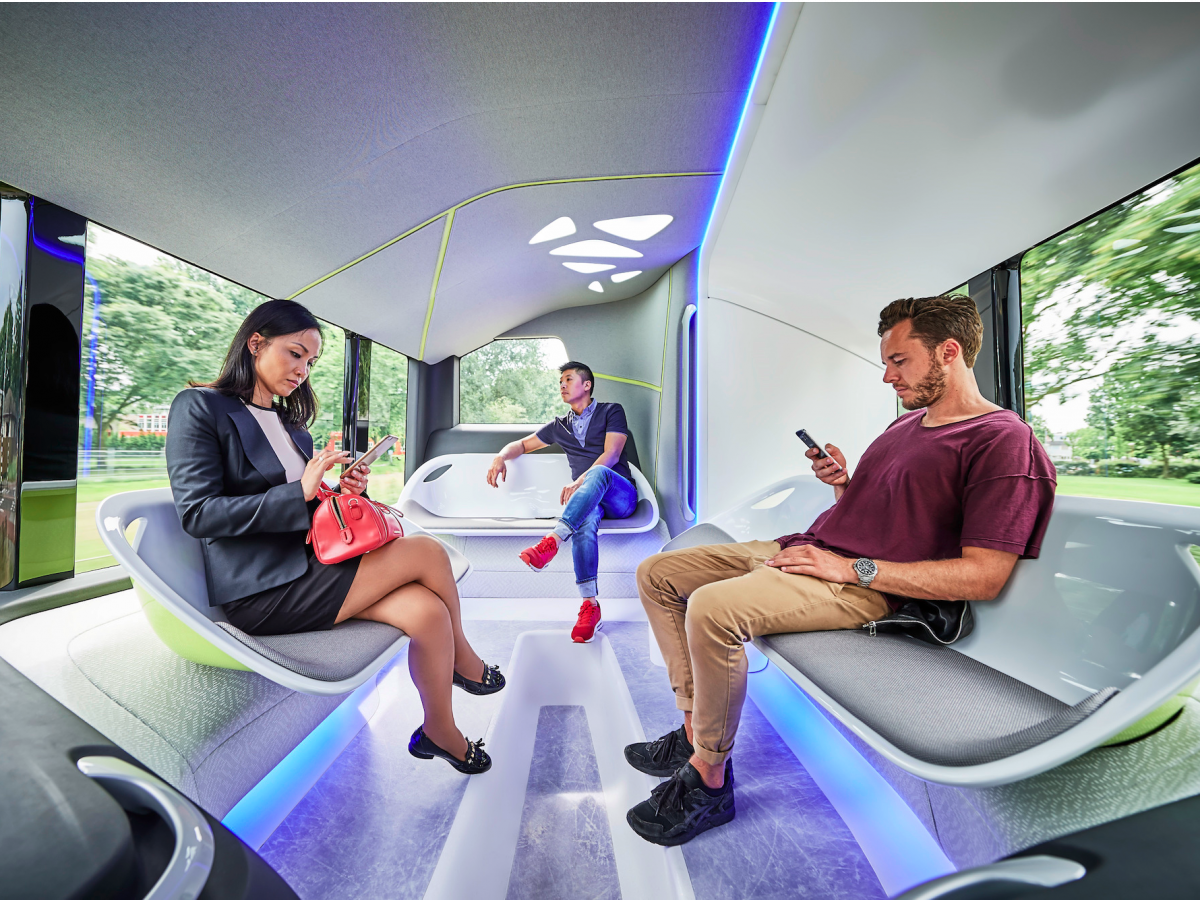 For More comfort bus has been designed like lounge design